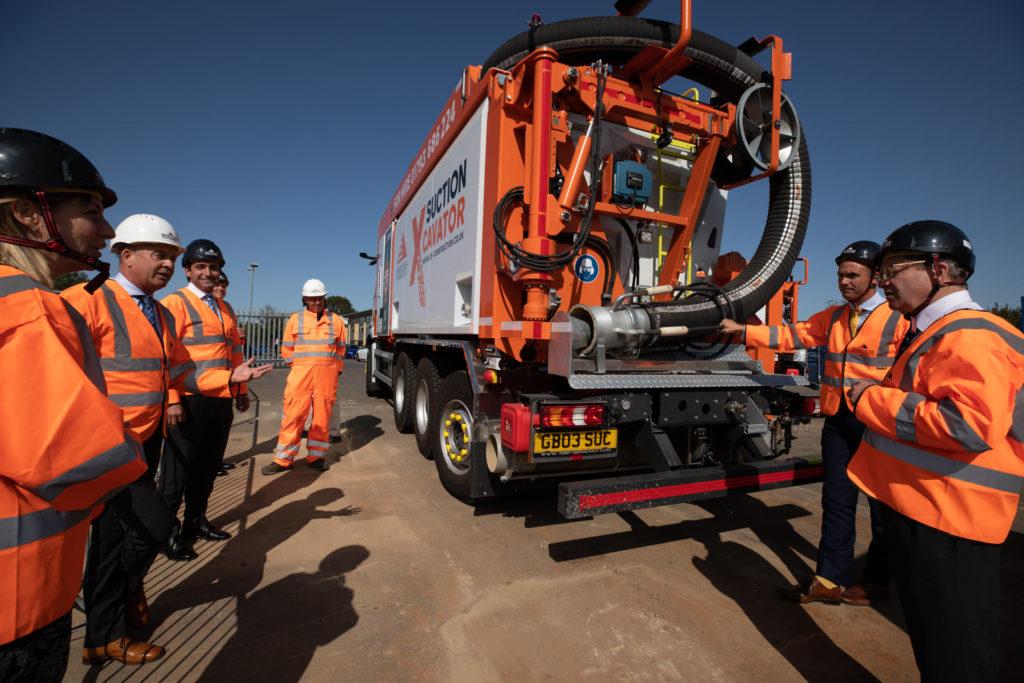 Hercules team around the suction excavators